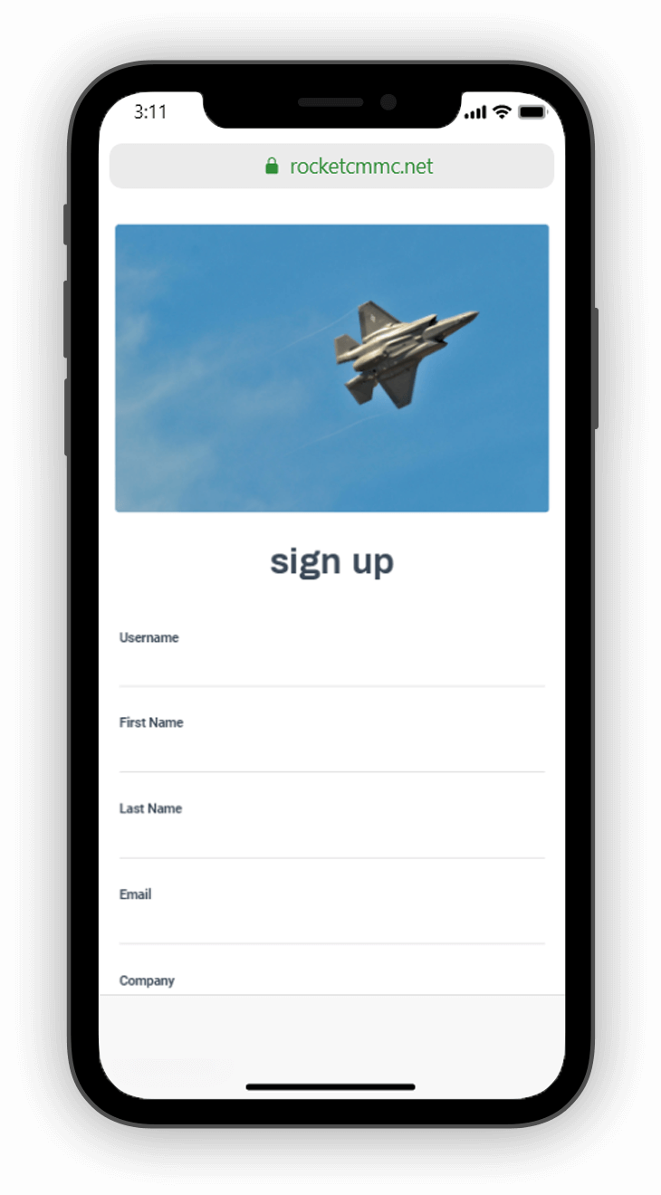 Sign Up.